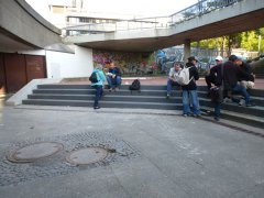 Szeneeinsatz am Raschplatz und Mecki in Hannover